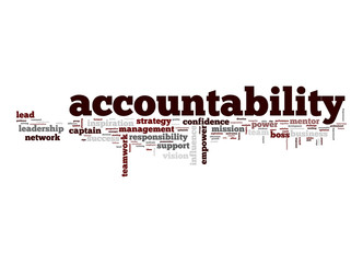 Accountability word cloud