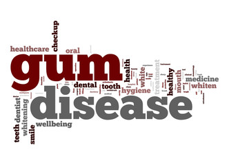 Gum disease word cloud
