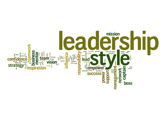 Leadership style word cloud