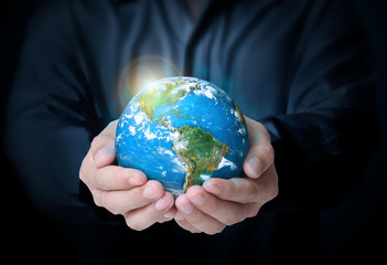 Earth in human the hand