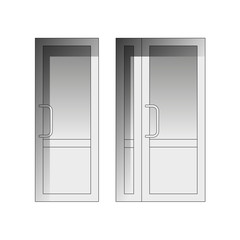 Vector set of doors