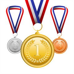 Vector set of medals