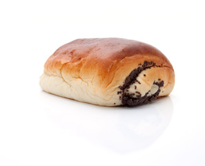 Delicious  bun with the poppy seeds