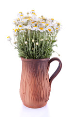Ceramic jug with the flowers