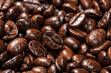macro Arabic coffee beans