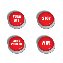 Red buttons with various commands