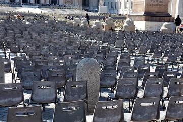 Place Saint Pierre. San Pietro. Roma.