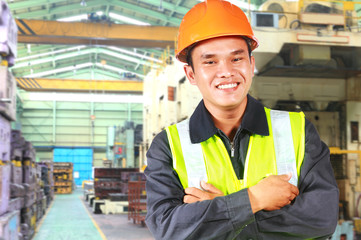 Portrait of asian engineer in factory