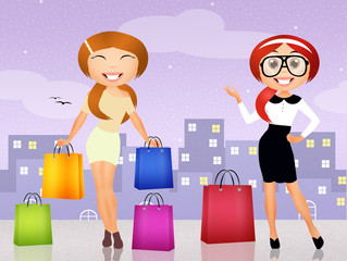 girls goes shopping