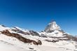Matterhorn with blue sky background, Zermatt, Switzerland