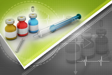 Medicine flu Syringe