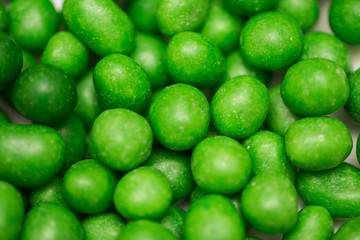 Green sweets as a background