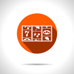 Vector orange slot icon. Eps10