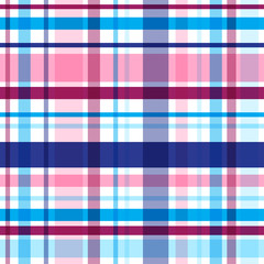 Vector bright plaid seamless pattern. Eps10