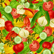 canvas print picture - Vegetables seamless background