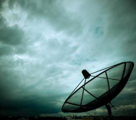 satellite dish and nimbus