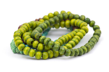 wooden color beads