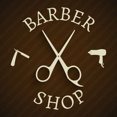 Hairdresser barber shop poster