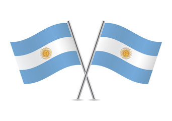 Argentinian flags. Vector illustration.
