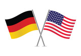 American and German flags. - 67440078