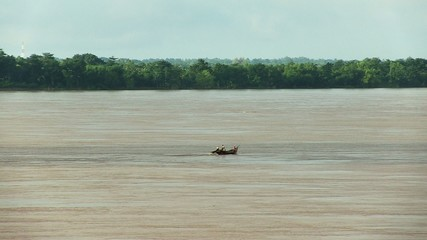Fishing boat on Mekong river