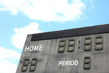Scoreboard in a Football Pitch