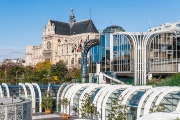 Les Halles and Saint Eustache