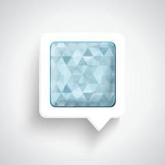 Abstract 3D Design - Speech bubble blue
