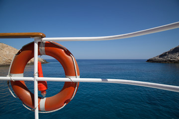 Salvagente in barca