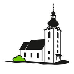 Vector church building