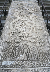 Large stone carving on the territory of the Temple of Heaven