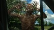 walking dead undead zombie strikes against car disc