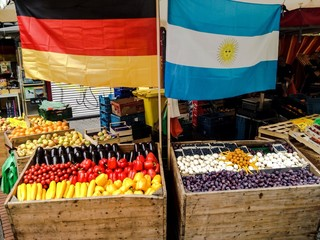 world cup 2014 themed fruit stand
