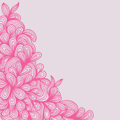 Floral Swirl Flower Pattern Background