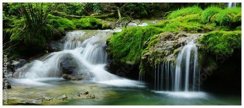 Tuinposter Watervallen petites cascades