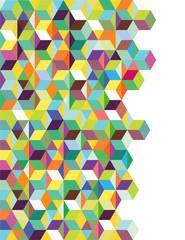 Abstrakter Hintergrund mit Farbwürfeln
