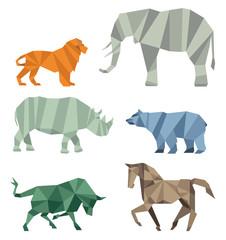 Kubistische Tierwelt