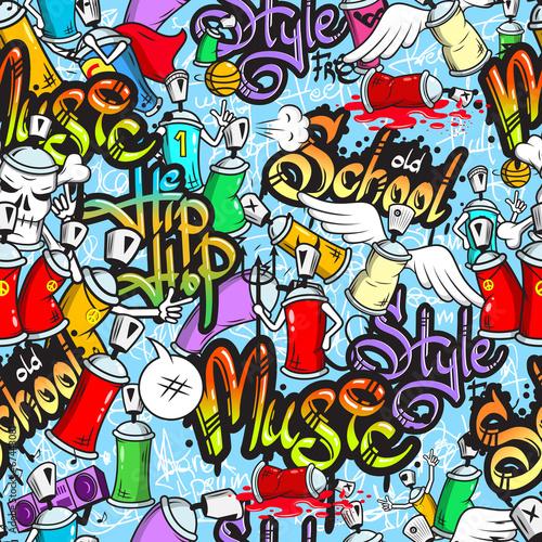 mata magnetyczna Znaków Graffiti szwu wzór