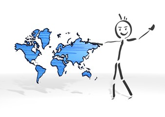 stick man presents international