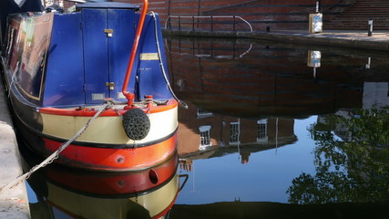 Detail of a barge,   Brindleyplace, Birmingham.