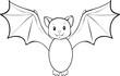 Lineart flatternde Fledermaus