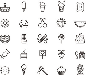 Sweets & Candy icon set