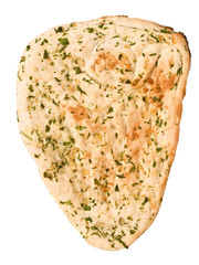 indian garlic and parsley naan bread