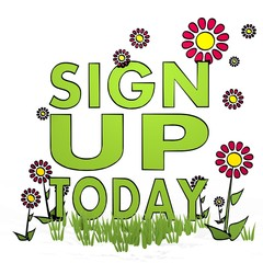 spring flower sign up today