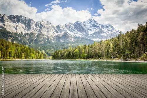 Deurstickers Meer / Vijver Eibsee Zugspitze