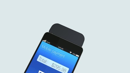 Mobile credit card payment concept
