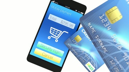 Credit cards and smartphone