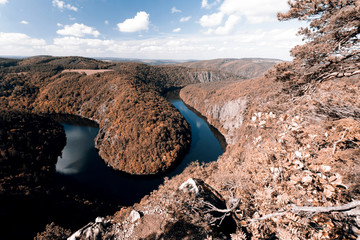 Meander of Vltava river