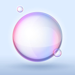 soap bubble on dark background