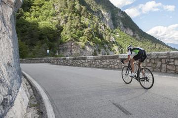 woman road cycling